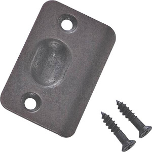 Stanley National N287-048 2-1/4 Inch Oil Rubbed Bronze Ball Catch Strike Plate