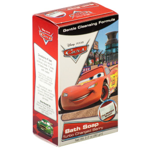 FLP 9467 Disney Cars Lightning Mcqueen Turbo Charged Berry Bath Soap