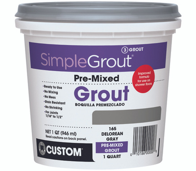 Custom Building Products PMG165QT Simple Grout Quart Pre - Mixed Grout Delorean Gray