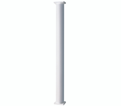 AFCO 006AC0608 Round White Aluminum Column 6 Inch By 8 Foot