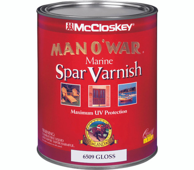 McCloskey 6509 Man O War Gloss Marine Spar Varnish VOC Quart Oil Based