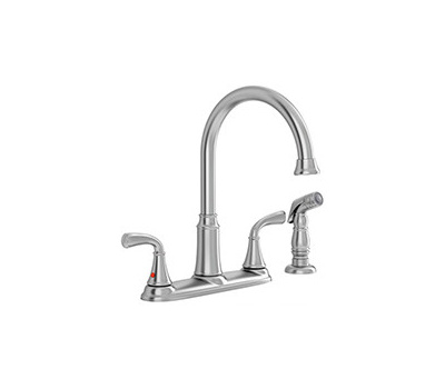 American Standard 7408400.075 Tinley Kitchen Faucet Hi-Arc With Hand Spray Stainless Steel 2 Handle