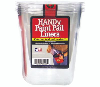 Bercom 2520CT Handy Pail Handy Paint Pail Liner Disposable 6 Pack