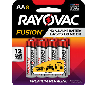 Ray O Vac 815-8TFUSK RAYO 8PK AA Fus Battery