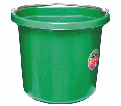 Fortex Fortiflex FB-120GR 20 Quart Flat Side Bucket Green