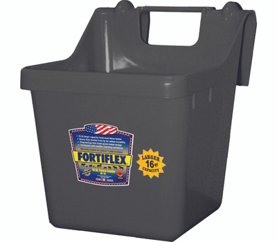 Fortex Fortiflex 1301601 Over The Fence Bucket Feeder 16 Quart Black