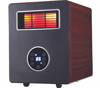 World Marketing CDE4800 Electric Heater With Advanced PTC Ceramic Heating Process Wood Grain Cabinet
