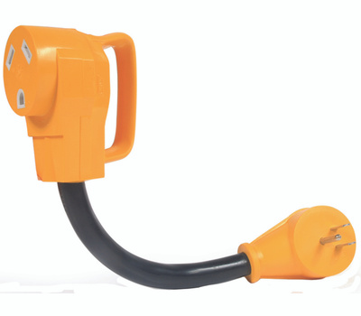 Camco 55163 Power Grip Adapter 15m/30f 12in 125v1875w
