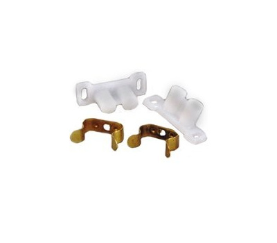 US Hardware D-121C Cabinet Door Catch Mobile Home White 2 Pack