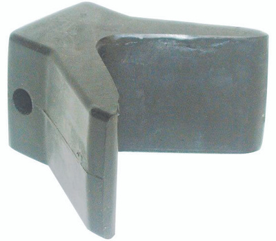 US Hardware M-279C 2 By 2 Inch Rubber Trailer Bow Stop