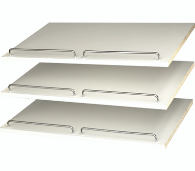 Stow RS1600 Shelves Shoe White 24In W/Rail