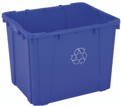 Continental Commercial 5914-1 Recycling Bin 14 Gallon