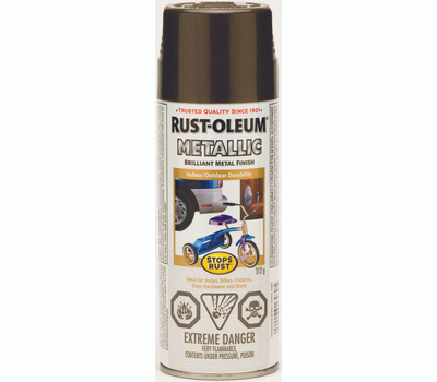 Rust-Oleum 242692 Stops Rust Dark Bronze Metallic 11 Ounce Spray