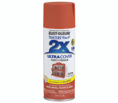 Rust-Oleum 249084 Painters Touch 2X Ultra Cover Paint + Primer Cinnamon Satin Spray