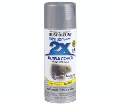 Rust-Oleum 249128 Painters Touch 2X Ultra Cover Paint + Primer Aluminum Gloss Spray
