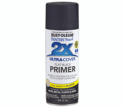Rust-Oleum 249846 Painters Touch 2X Flat Black Primer Ultra Cover 2X Primer Spray