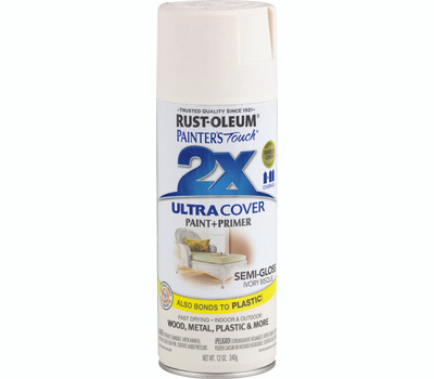 Rust-Oleum 249860 Painters Touch 2X Ultra Cover Paint + Primer Ivory Bisque Semi-Gloss Spray