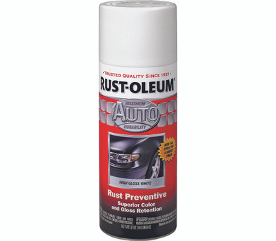 Rust-Oleum 252468 Auto Coatings Acrylic Lacquer White Spray