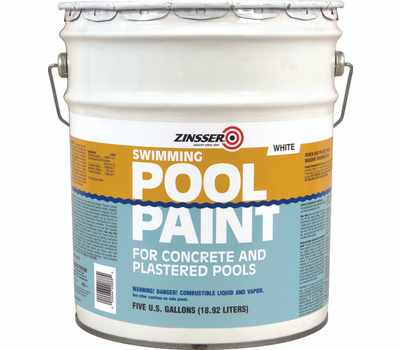 Zinsser 260540 White Swimming Pool Paint 5 Gallon Rubber-Based