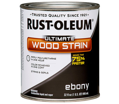 Rust Oleum 271108 Ultimate Ebony Wood Care Interior Oil Wood Stain Quart