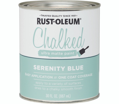 Rust-Oleum 285139 Chalked Ultra Matte Interior Chalked Serenity Blue 30 Ounce