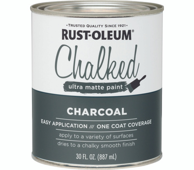 Rust-Oleum 285144 Chalked Ultra Matte Interior Chalked Charcoal 30 Ounce
