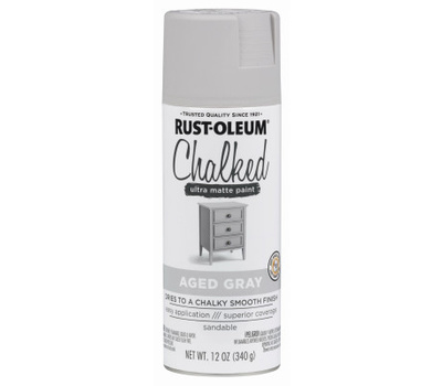 Rust-Oleum 302592 Chalked Aged Gray Chalked Finish 12 Ounce