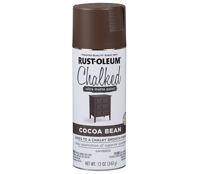Rust-Oleum 329194 Chalked Cocoa Bean Chalked Finish 12 Ounce