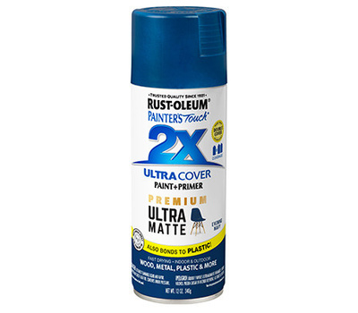Rust-Oleum 331183 Painters Touch 2X Ultra Cover Paint + Primer Evening Navy Matte Spray