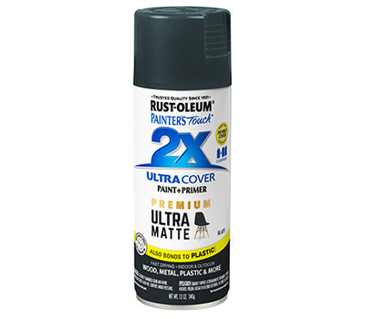 Rust-Oleum 331187 Painters Touch 2X Ultra Cover Paint + Primer Slate Matte Spray