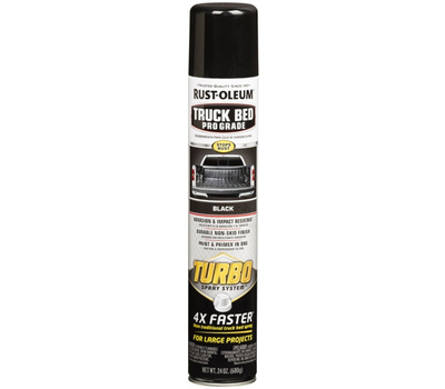 Rust-Oleum 340455 Auto Coatings Truck Bed Coating 24 Ounce Turbo Black