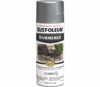 Rust-Oleum 7213830 Stops Rust Silver Hammered Spray Paint