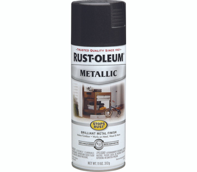Rust-Oleum 7250830 Stops Rust Black Night Metallic Spray Paint