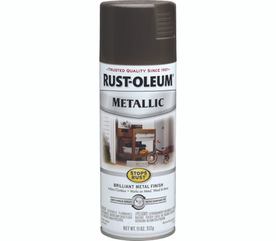Rust-Oleum 7272830 Stops Rust Dark Bronze Metallic Spray Paint