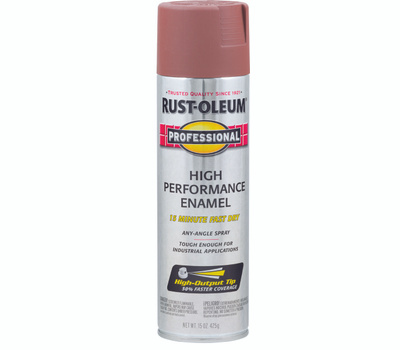 Rust-Oleum 7569838 Professional Flat Red High Performance Spray Primer 15 Ounce