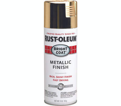Rust-Oleum 7710830 Stops Rust Gold Bright Coat Metallic Finish Spray