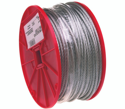 Campbell Chain 7000327 Uncoated Cable 3/32 Inch By 500 Foot Galvanized Steel