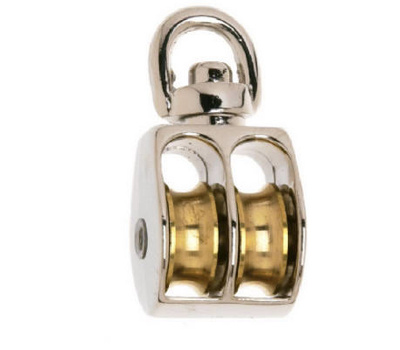 Campbell Chain T7655312 Double Swivel Rope Pulley 1 Inch