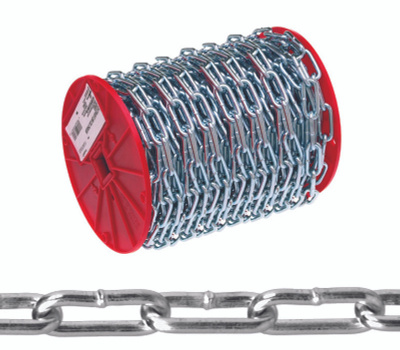 Campbell Chain 0726827 Straight Link Coil Chain #2 By 125 Foot Zinc Plated Steel