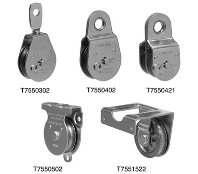 Campbell Chain T7550304 Swivel Eye Pulley 3 Inch For 1/2 Inch Rope Zinc Plated Steel