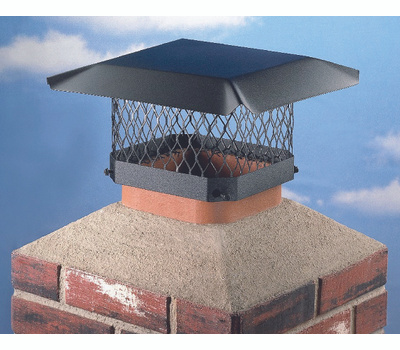 HY-C SC1318 Shelter Chimney Cap Black Steel 13 Inch By 18 Inch