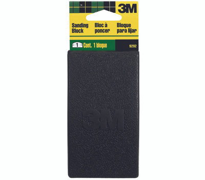 3M 9292 Rubber Sanding Block 2-1/2 Inch By 5 Inch Face