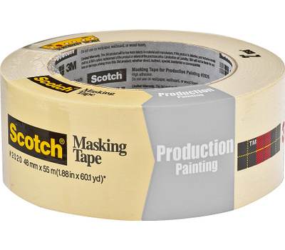3M 2020-48MP Scotch Masking Tape For Production Painting 2 Inch By 60 Yards