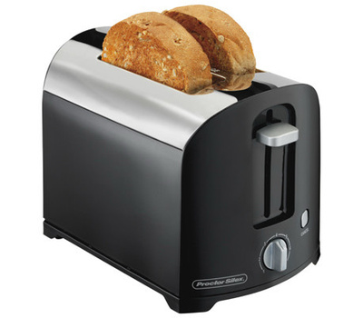 Proctor Silex 22622 2 Slice Cool Wall Toaster Black And Chrome