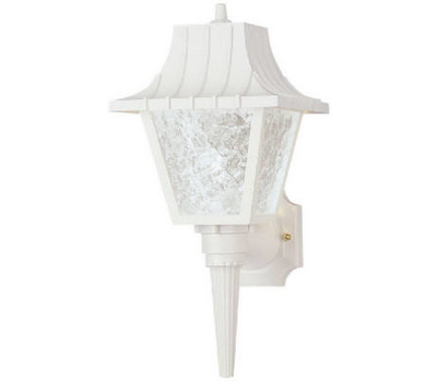 Westinghouse 66946 8 Inch White Plastic Wall Lantern