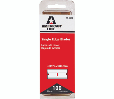 Accutec Blades 66-0089 American Line #9 Razor Blades Single Edge High Carbon Surgical Steel