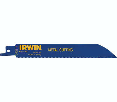 Irwin 372614 Weld Tech 6 Inch 14 Tooth Reciprocating Saw Blade
