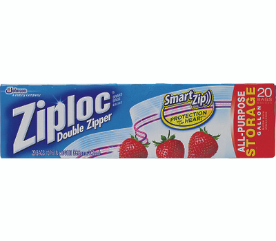 SC Johnson 00350 Ziploc Gallon Storage Bag 20 Pack
