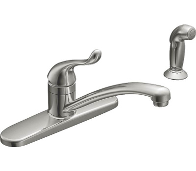 Moen CA87530 Banbury Single Handle Kitchen Faucet Chrome With Spray
