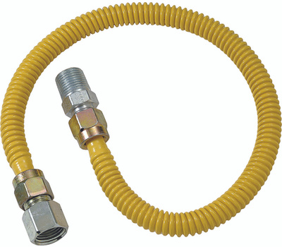 Brass Craft CSSD54-48 Plumb Shop Stainless Steel Gas Connector 1/2 Inch Female By 1/2 Inch Male By 48 Inch